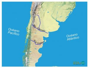 hidrografia, colorado, chubut, america del sur, sudamerica ,rio, cuenca